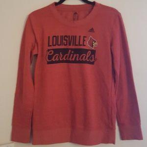 Louisville Cardinals Adidas Sweatshirt Size Small